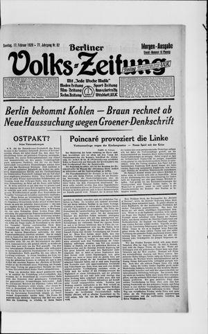 Berliner Volkszeitung vom 17.02.1929