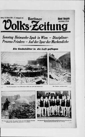 Berliner Volkszeitung vom 18.02.1929