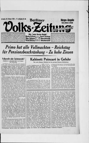 Berliner Volkszeitung vom 20.02.1929
