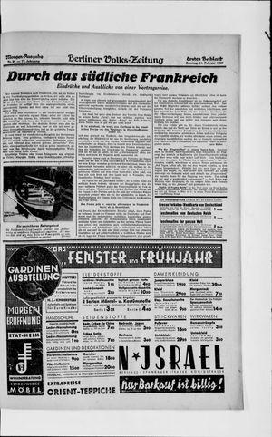 Berliner Volkszeitung vom 24.02.1929