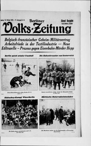 Berliner Volkszeitung vom 25.02.1929