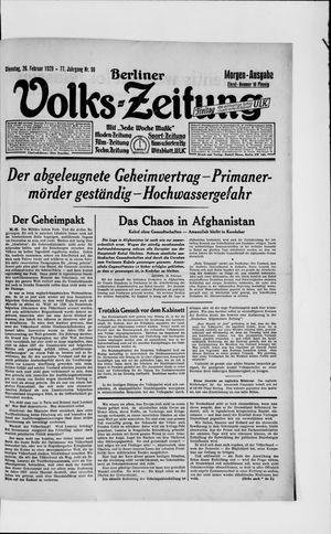 Berliner Volkszeitung vom 26.02.1929