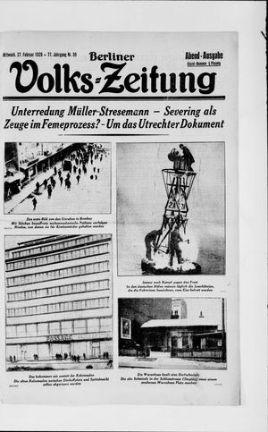 Berliner Volkszeitung on Feb 27, 1929