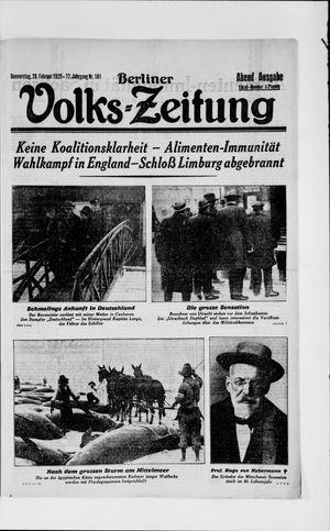 Berliner Volkszeitung vom 28.02.1929