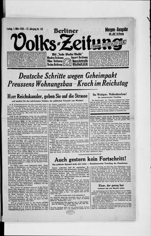 Berliner Volkszeitung vom 01.03.1929