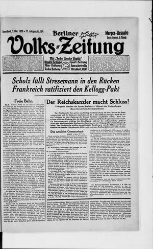 Berliner Volkszeitung vom 02.03.1929