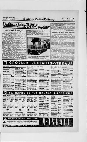 Berliner Volkszeitung vom 03.03.1929