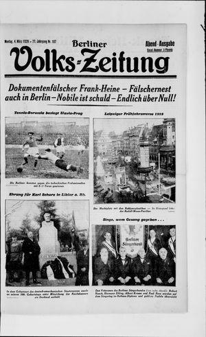 Berliner Volkszeitung vom 04.03.1929