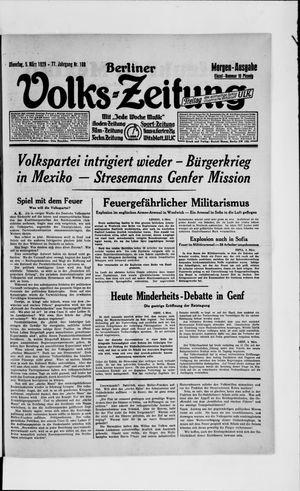 Berliner Volkszeitung vom 05.03.1929