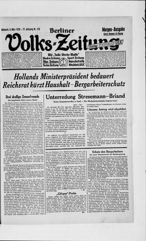 Berliner Volkszeitung vom 06.03.1929