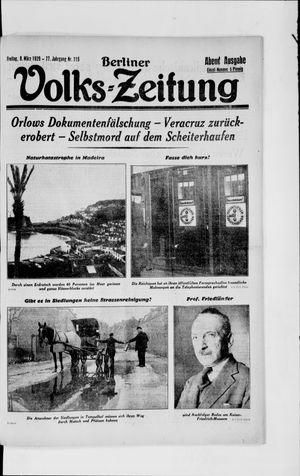 Berliner Volkszeitung vom 08.03.1929