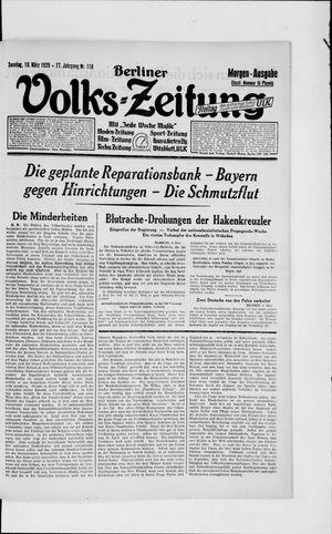 Berliner Volkszeitung vom 10.03.1929