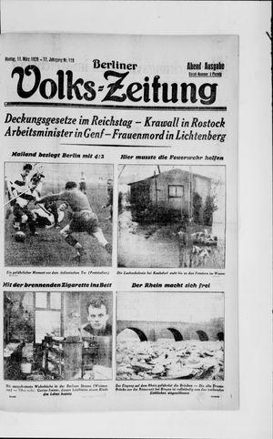 Berliner Volkszeitung vom 11.03.1929