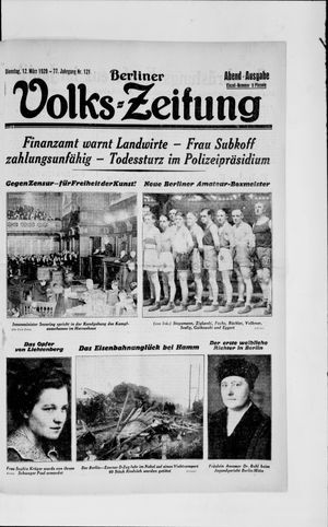 Berliner Volkszeitung on Mar 12, 1929