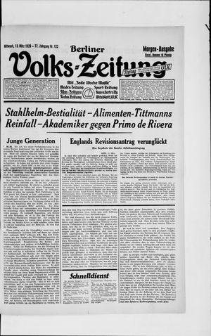 Berliner Volkszeitung vom 13.03.1929