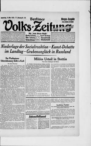Berliner Volkszeitung vom 14.03.1929