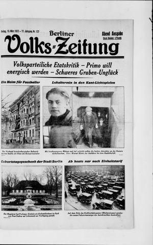 Berliner Volkszeitung vom 15.03.1929