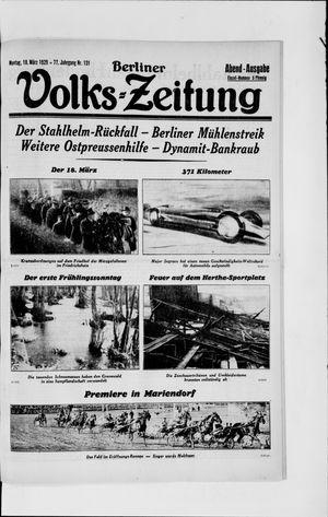 Berliner Volkszeitung vom 18.03.1929
