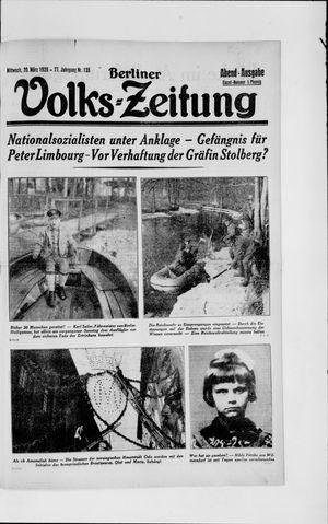 Berliner Volkszeitung vom 20.03.1929