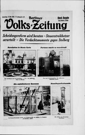 Berliner Volkszeitung vom 21.03.1929