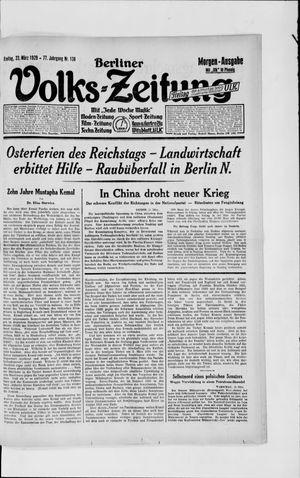 Berliner Volkszeitung vom 22.03.1929