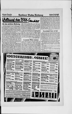 Berliner Volkszeitung vom 24.03.1929