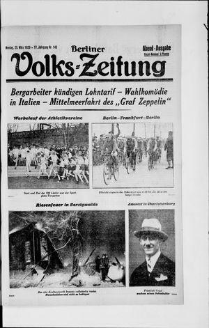 Berliner Volkszeitung vom 25.03.1929