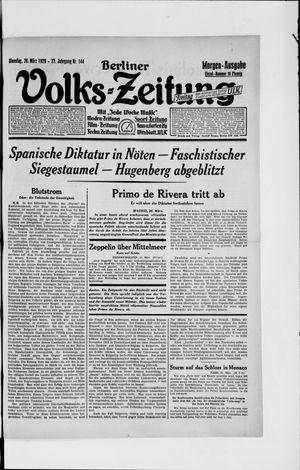 Berliner Volkszeitung vom 26.03.1929