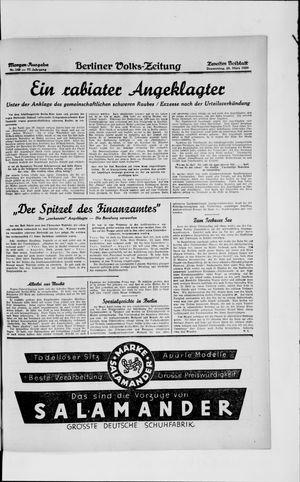 Berliner Volkszeitung vom 27.03.1929