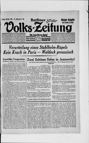 Berliner Volkszeitung vom 29.03.1929