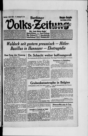 Berliner Volkszeitung vom 02.04.1929