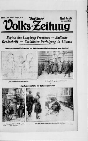 Berliner Volkszeitung vom 03.04.1929