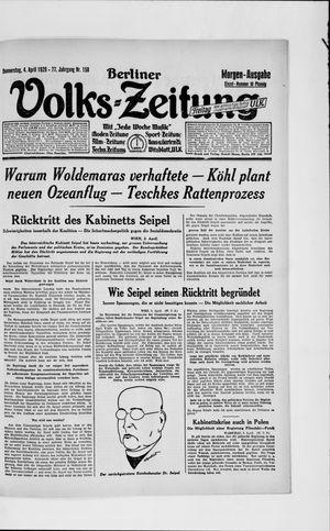 Berliner Volkszeitung vom 04.04.1929