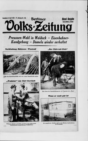 Berliner Volkszeitung vom 06.04.1929