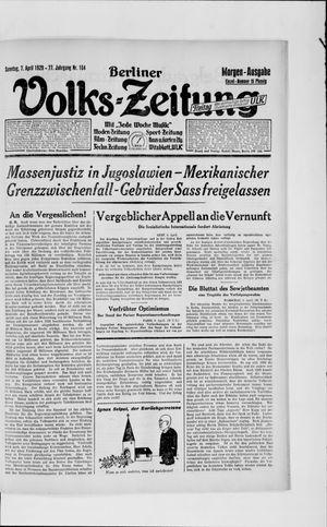 Berliner Volkszeitung vom 07.04.1929