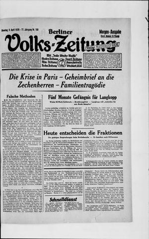 Berliner Volkszeitung vom 09.04.1929
