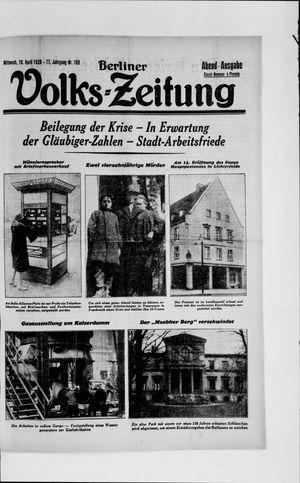 Berliner Volkszeitung vom 10.04.1929