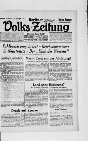 Berliner Volkszeitung vom 13.04.1929