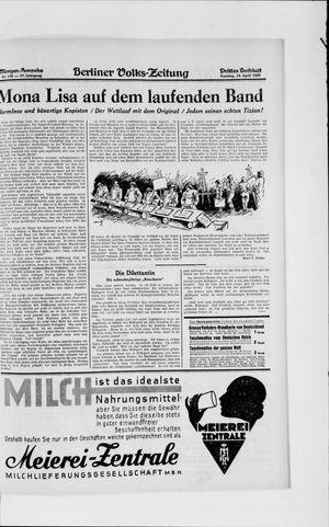 Berliner Volkszeitung vom 14.04.1929