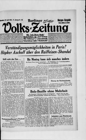 Berliner Volkszeitung vom 20.04.1929
