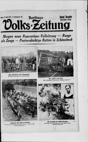 Berliner Volkszeitung vom 22.04.1929