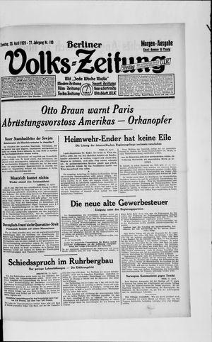 Berliner Volkszeitung vom 23.04.1929