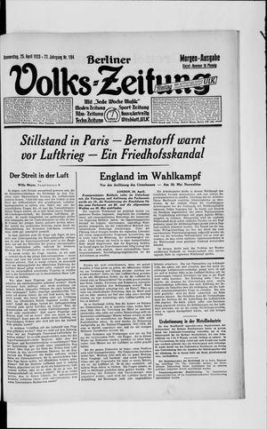 Berliner Volkszeitung vom 25.04.1929