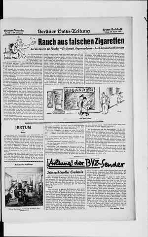 Berliner Volkszeitung vom 26.04.1929