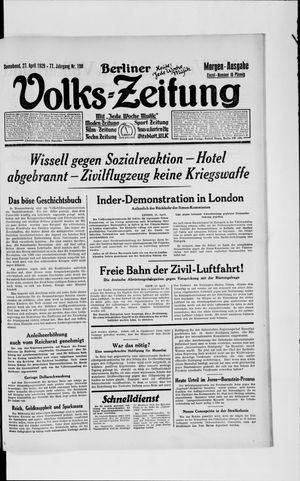 Berliner Volkszeitung vom 27.04.1929