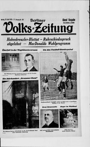 Berliner Volkszeitung vom 29.04.1929