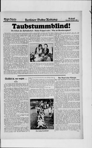 Berliner Volkszeitung vom 30.04.1929