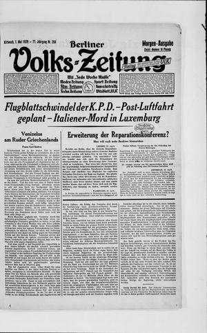 Berliner Volkszeitung on May 1, 1929
