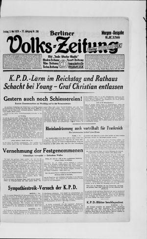 Berliner Volkszeitung vom 03.05.1929
