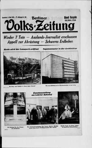 Berliner Volkszeitung vom 04.05.1929
